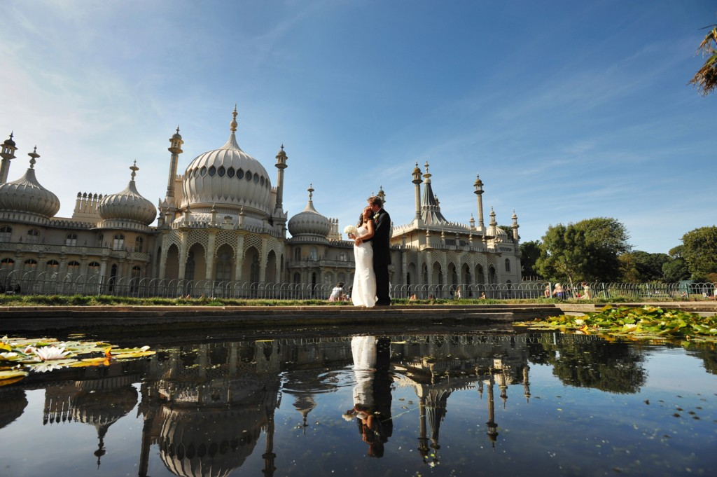 Brighton pavillion property wedding couple