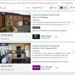 Search results from properties for sale on right move
