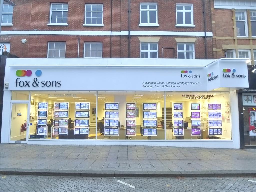High Street Southampton estate agents fox and sons.
