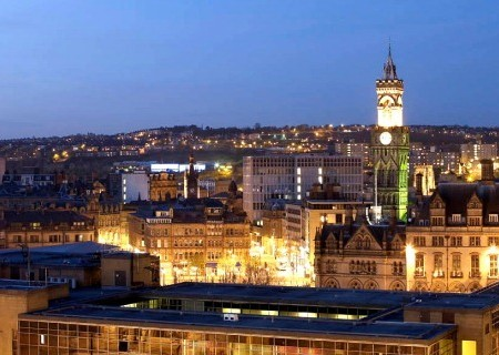 bradford city at night