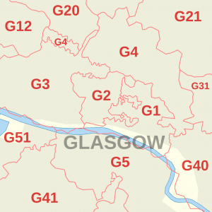 glasgow map of areas we buy houses
