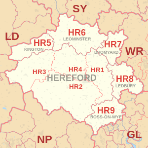 hereford map buy my house areas