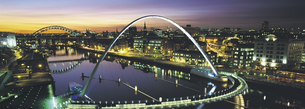newcastle city centre night scene