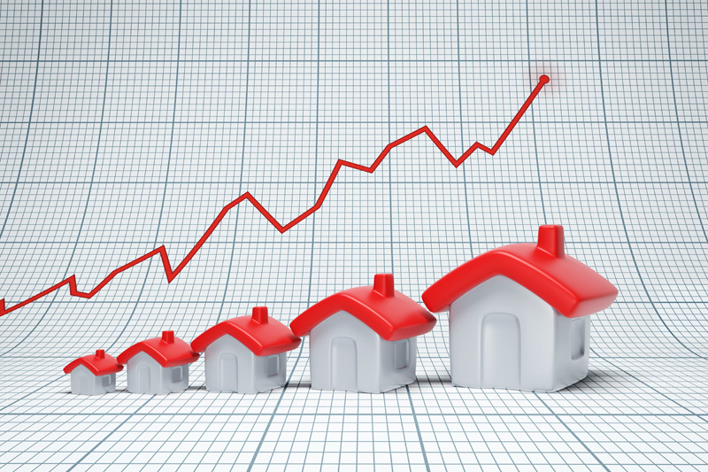 image of housing going up in property value