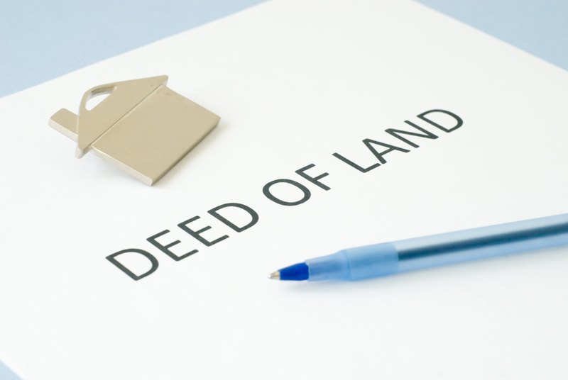 Conveyancing legal house deed document